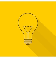 Flat long shadow light bulb icons vector
