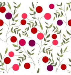 Pattern with berries vector