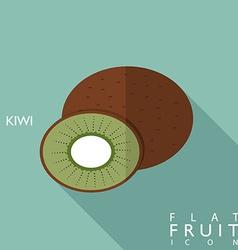 Kiwi flat icon with long shadow vector