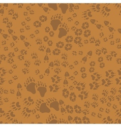 Seamless pattern of animal trails vector