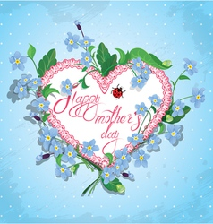 Mother day card 2 380 vector