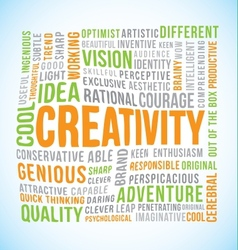 Creativity word vector