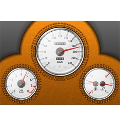 Leather car dashboard vector