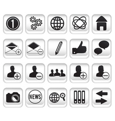 Set community buttons icons part 1 vector
