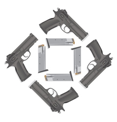 Handgun collection vector