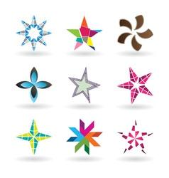Creative stars vector