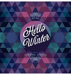 Hipster hello winter dark vector