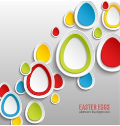 Easter eggs abstract colorful background vector