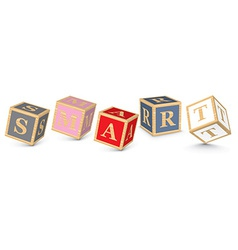 Word smart written with alphabet blocks vector