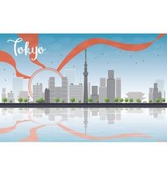 Tokyo skyline with skyscrapers vector