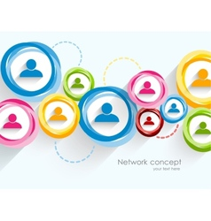 Network background vector