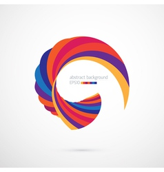 Abstract background with bright shape vector