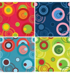 Dots and circles background set vector