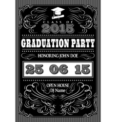 Template for the posters to graduate party vector