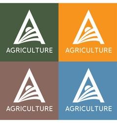 Agriculture monogram vector