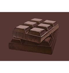 Piece of chocolate vector