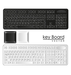 Computer keyboards black and white with keys vector