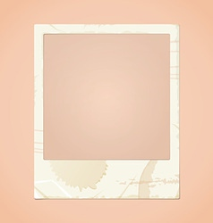 Dirty photo frame vector
