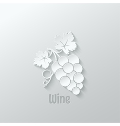 Wine grapes background vector