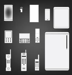 Phone set simple icon vector