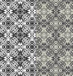 Set of seamless retro patterns vector