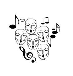 Choir singing vector