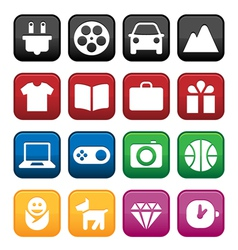 Shopping and store icons vector