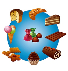 Candy icons vector