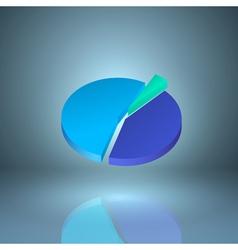 Icon pie chart vector