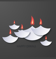 Modern happy diwali background vector