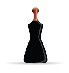 Bottle of alcohol art vector