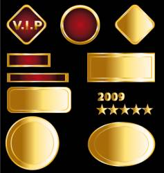 Gold labels and medals vector