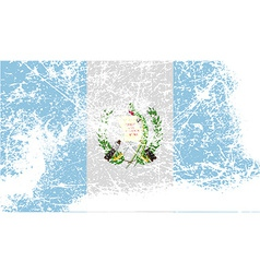 Flag of guatemala with old texture vector