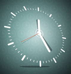 Abstract 3d clock face on blue background vector