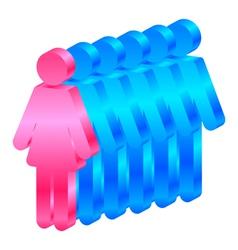 Woman leader vector