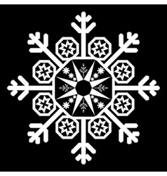 Single white snowflake vector