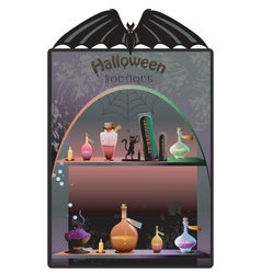 Halloween boutique background vector