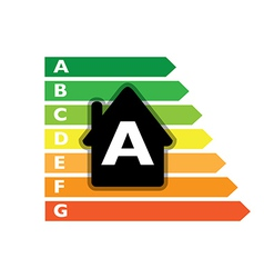 Houses efficiency label vector