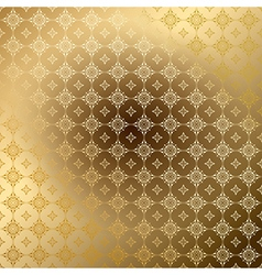 Golden ornamental background with gradient vector