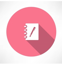 Note and pen icon vector