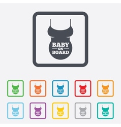 Pregnant woman shirt sign icon maternity symbol vector