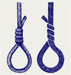 Rope noose with hangman knot vector