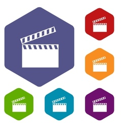 Film rhombus icons vector