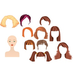 Womans haircuts vector