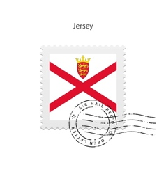 Jersey flag postage stamp vector