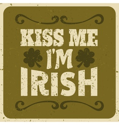 Vintage style st patricks day greeting card design vector