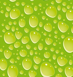 Seamless green pattern with water drops vector