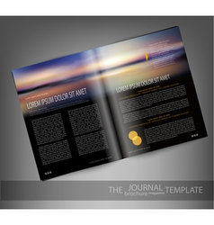 Template print edition of the magazine with seasca vector