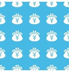 Yen purse straight pattern vector