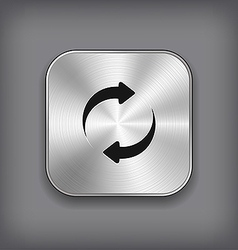 Refreshment - media player icon - metal app vector